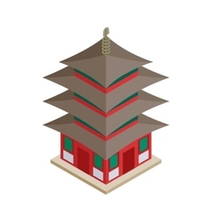 Pagoda icon isometric 3d style vector image