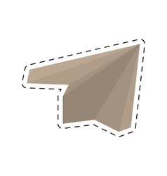 Paper plane origami modeling creative cut line vector