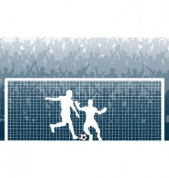 penalty kick vector image vector image