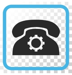 Phone settings icon in a frame vector