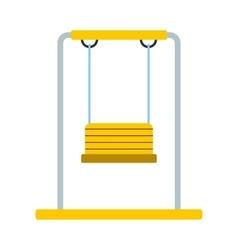 Playground swing icon vector image