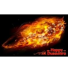 Raavan Dahan for Dusshera celebration vector image vector image