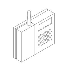 Radiotelephone icon isometric 3d style vector