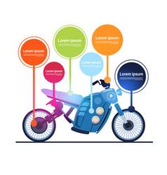 Realistic motorcycle hybrid electric motorbike vector