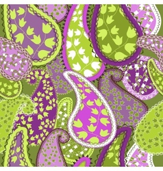 Seamless PatternPaisley Colorful Background vector image vector image