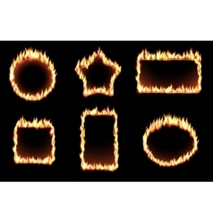 set of fire frames vector image vector image