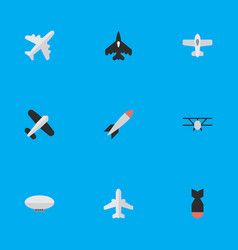 Set of simple airplane icons vector