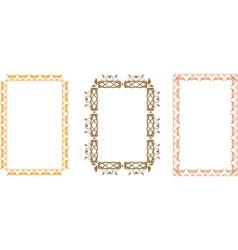 Slavic frame vector image vector image