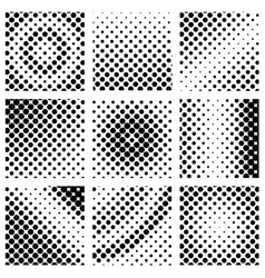 Square halftone set vector