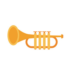trumpet music instrument vector image vector image