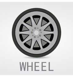 Wheel logo design vector