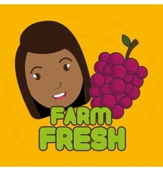Kids farm fresh food vector