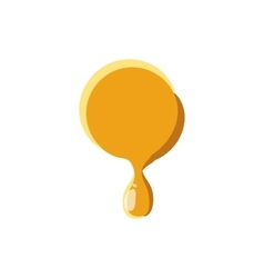 Point from honey icon vector