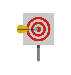 Red target and dart icon flat style vector