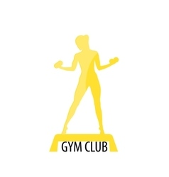 Gym club logotype sport fitness creative concept vector