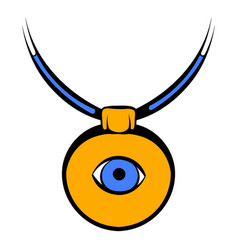Amulet against the evil eye icon icon cartoon vector