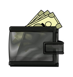 wallet money safe finance business icon vector image