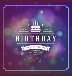 Happy birthday typographic for greeting card vector