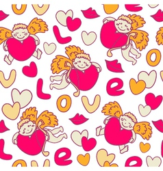 Cupids seamless pattern vector