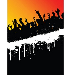 Grunge party crowd vector