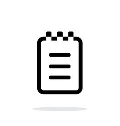 Notepad simple icon on white background vector