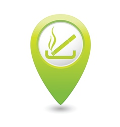 Smoking green map pointer vector