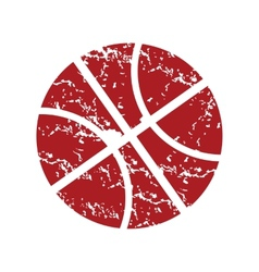 Red grunge basketball logo vector
