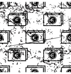 Euro banknote pattern grunge monochrome vector