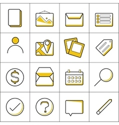 Outline business icons vector