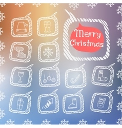 Set of christmas icon vector