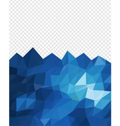 Abstract triangle blue ocean vector