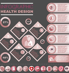 Healthcare infographic vector