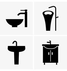 Washbasins vector