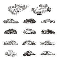 Classic cars collection vector