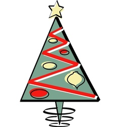 Abstract xmas tree vector image vector image