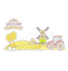 Agribusiness of autumn harvest yellow farm l vector image vector image