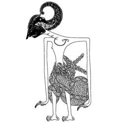Arjuna vector image