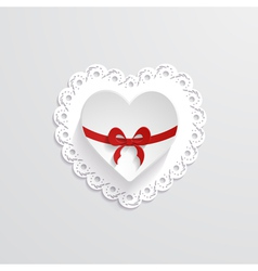 Background with a paper heart vector