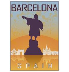 Barcelona vintage poster vector