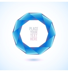 Blue decagon shape on white background vector