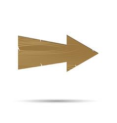 cartoon wooden pointer arrow isolated vector image vector image