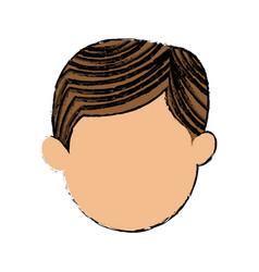 Character face man default cartoon vector