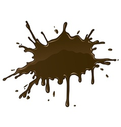 Chocolate splash blot with vector image