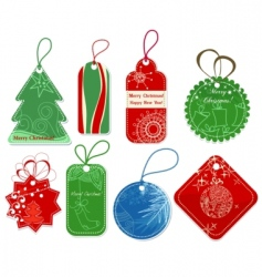 Christmas price tags vector image vector image