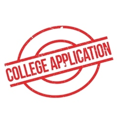 College application rubber stamp vector