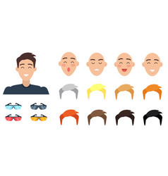 create your character collection of emotions vector image vector image