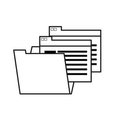 Figure documents file folder icon vector