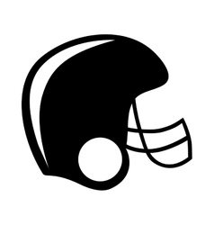 Football helmet icon image vector