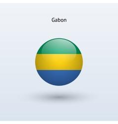 Gabon round flag vector image