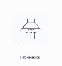 kitchen hood outline icon isolated vector image vector image